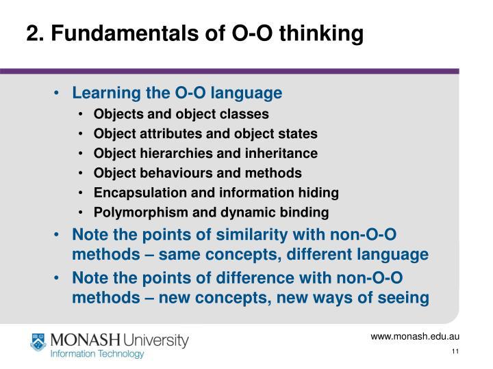 2. Fundamentals of O-O thinking