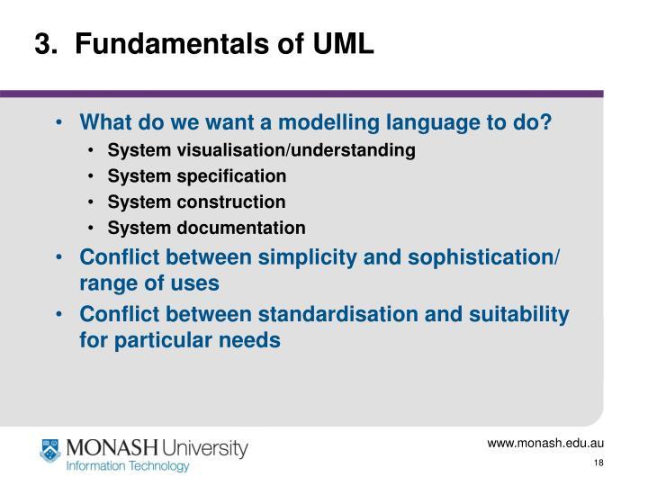 3.  Fundamentals of UML