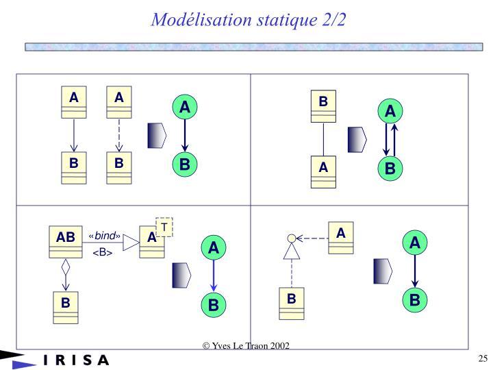 Modélisation statique 2/2