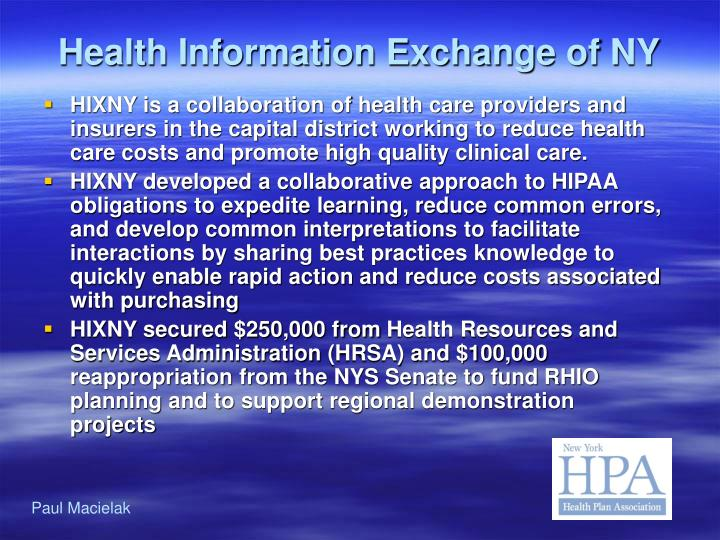 Health Information Exchange of NY