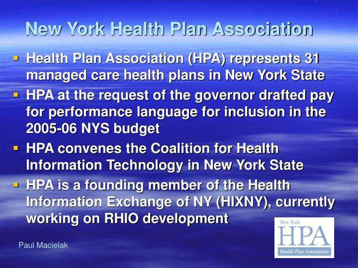 New York Health Plan Association