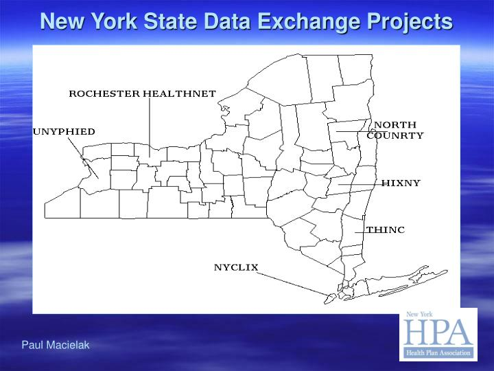 New York State Data Exchange Projects
