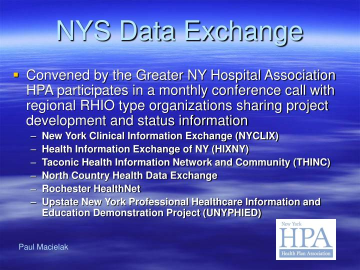NYS Data Exchange