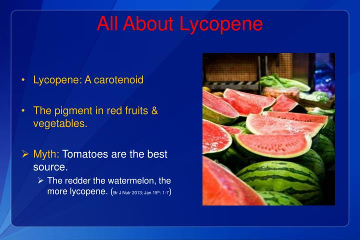 All About Lycopene