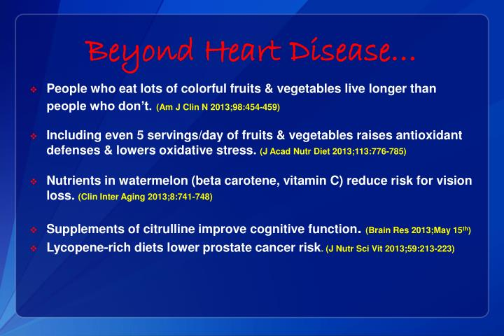 Beyond Heart Disease…