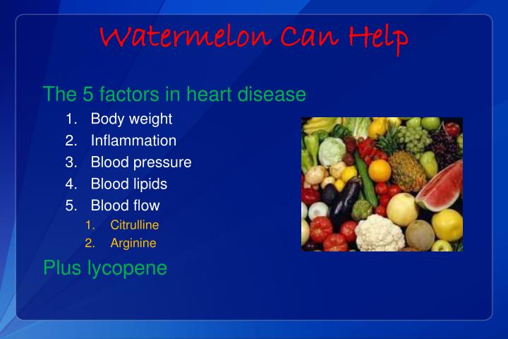 Watermelon Can Help