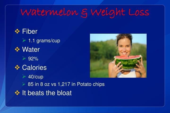 Watermelon & Weight Loss