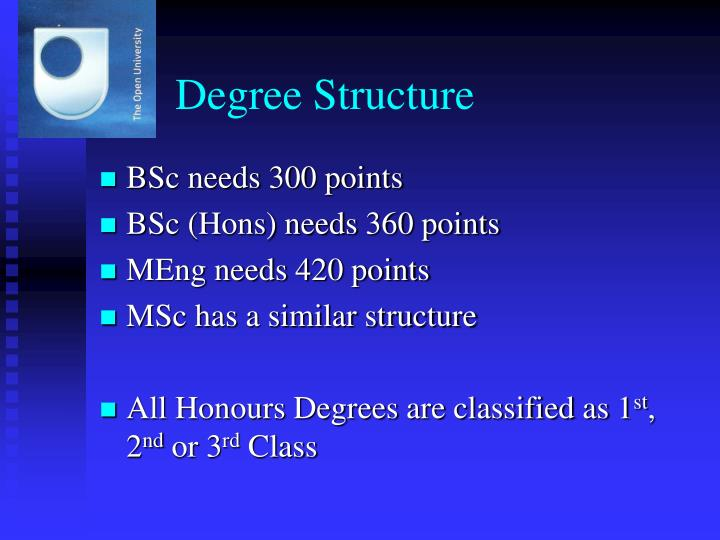 Degree Structure