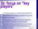 3b focus on key players