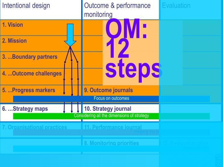 OM:  12 steps