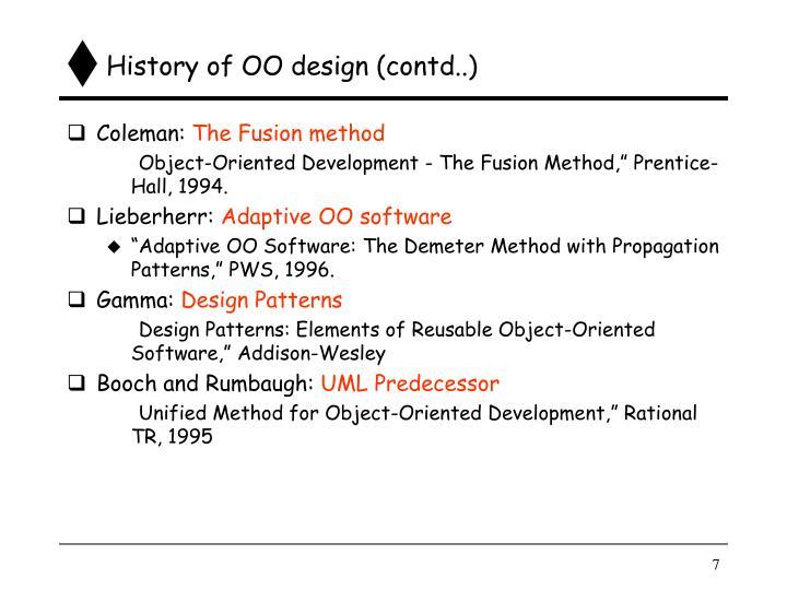 History of OO design (contd..)