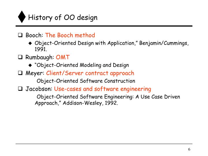 History of OO design
