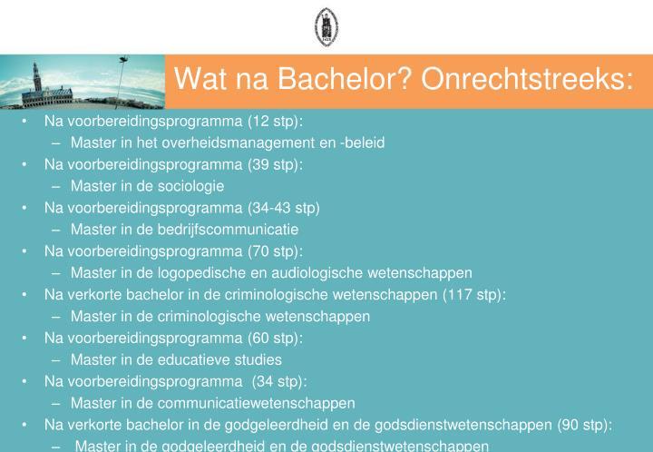 Wat na Bachelor? Onrechtstreeks: