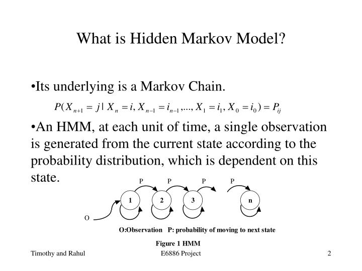 What is hidden markov model