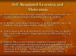 self regulated learning and motivation1