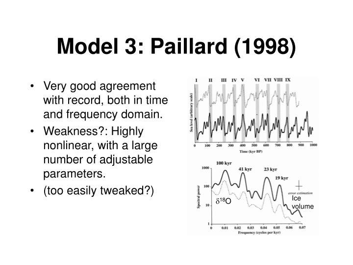Model 3: Paillard (1998)