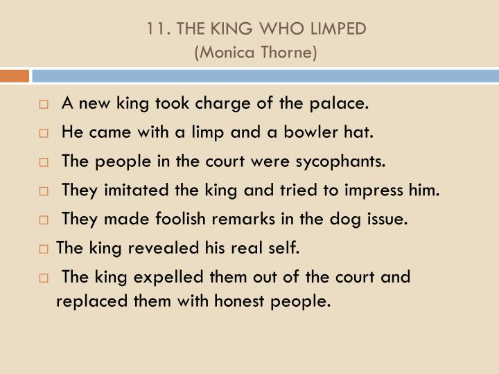 11. THE KING WHO LIMPED