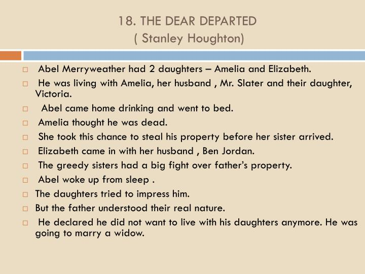 18. THE DEAR DEPARTED
