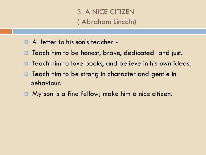 3 a nice citizen abraham lincoln