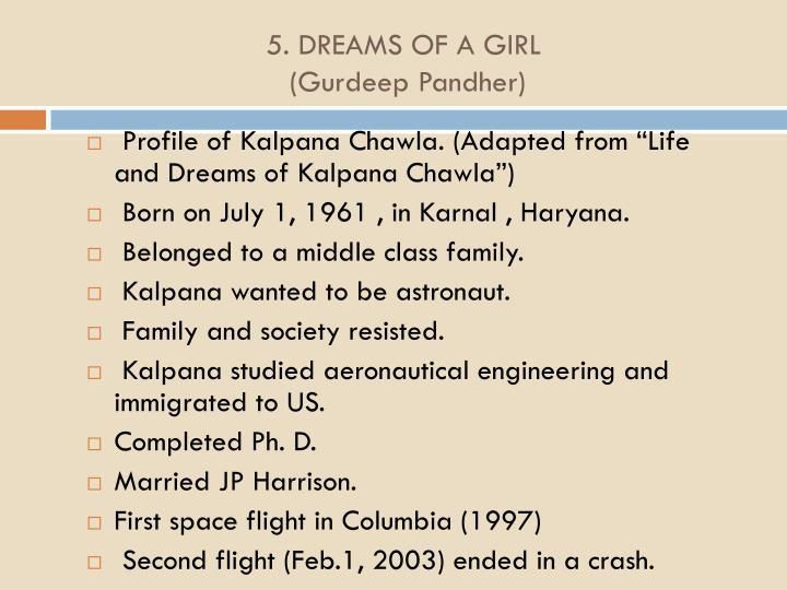 5. DREAMS OF A GIRL