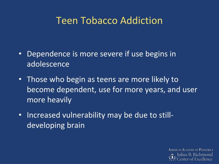 treating tobacco dependence essay 1 | identifying and treating patients who use tobacco t address tobacco dependence treatment and organize the clinical team to implement an intervention.