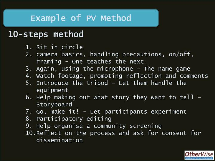 Example of PV Method