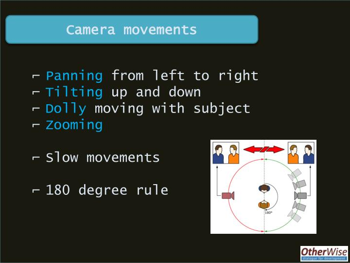Camera movements