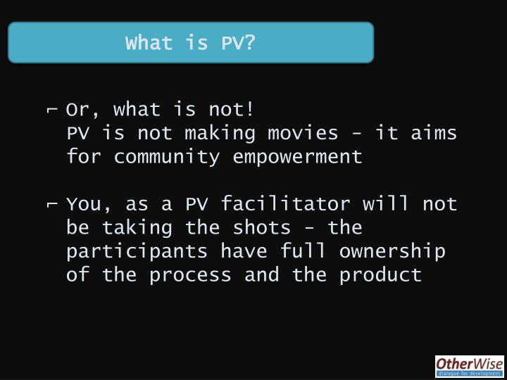 What is PV?