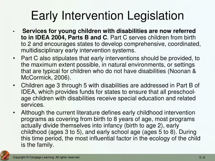 Early Intervention Legislation