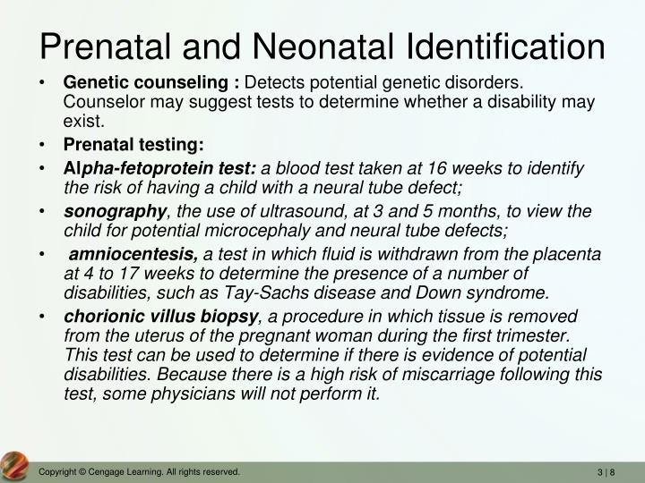 Prenatal and Neonatal Identification
