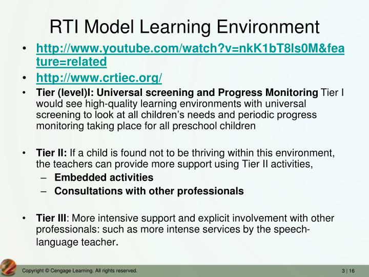RTI Model Learning Environment