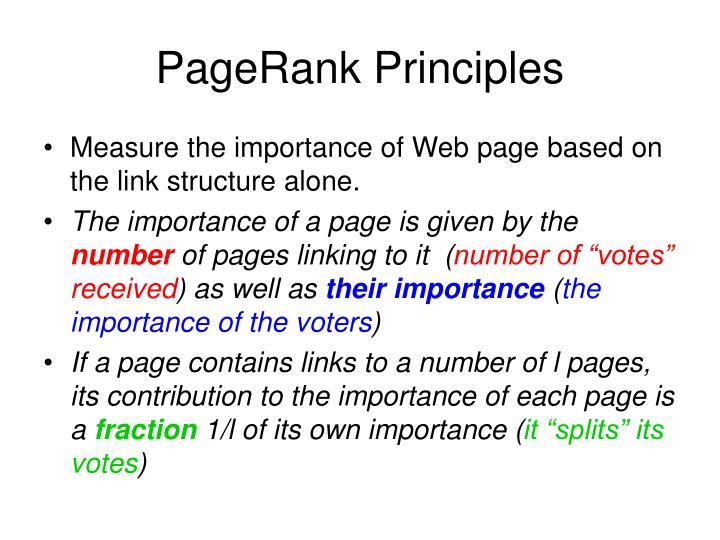 PageRank Principles