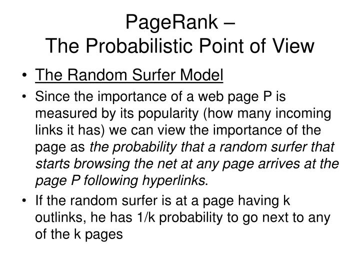 PageRank –