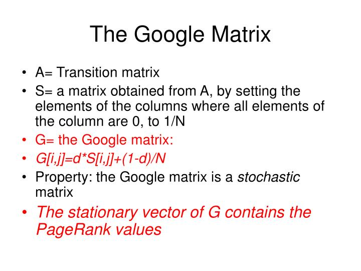 The Google Matrix