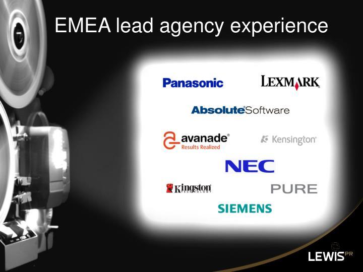 EMEA lead agency experience