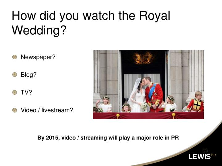 How did you watch the Royal Wedding?