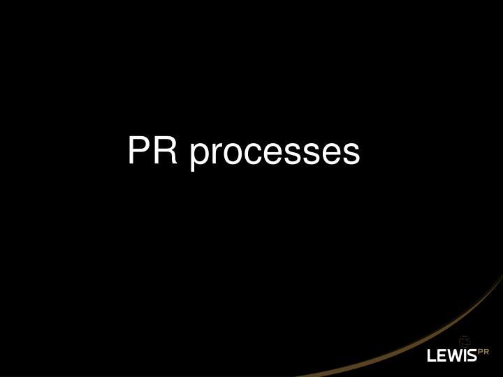 PR processes