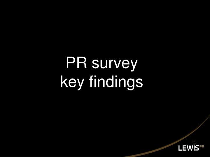 PR survey
