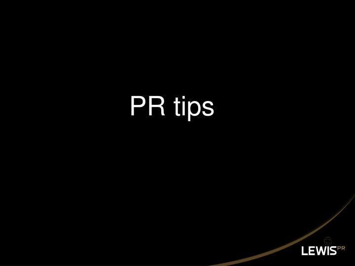 PR tips