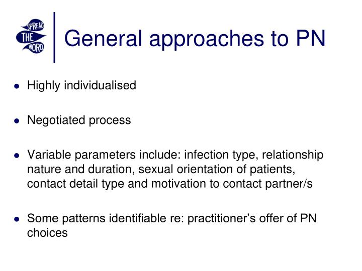 General approaches to PN