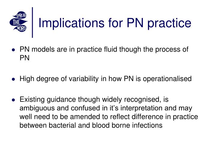 Implications for PN practice