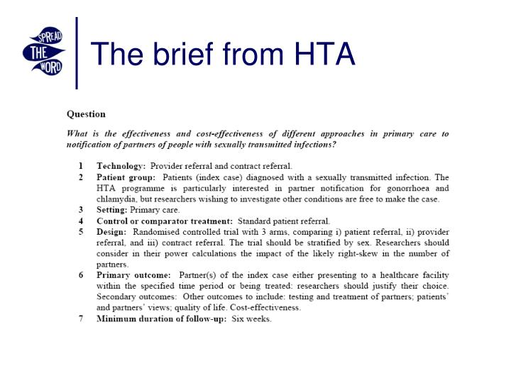 The brief from HTA