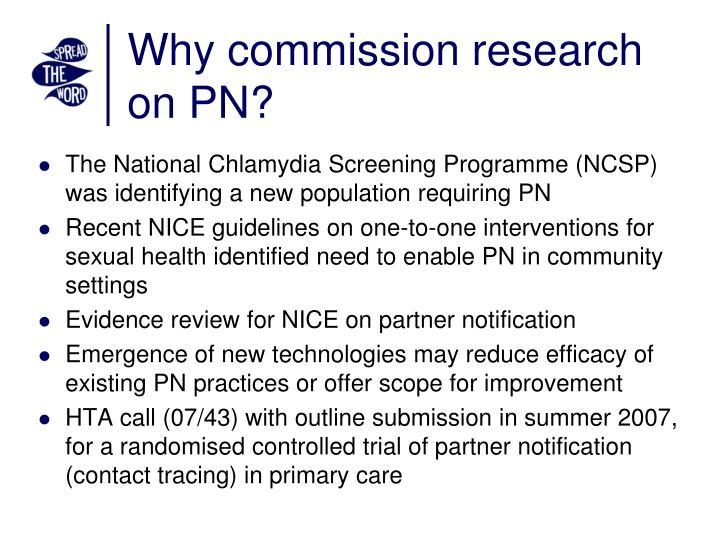 Why commission research on pn