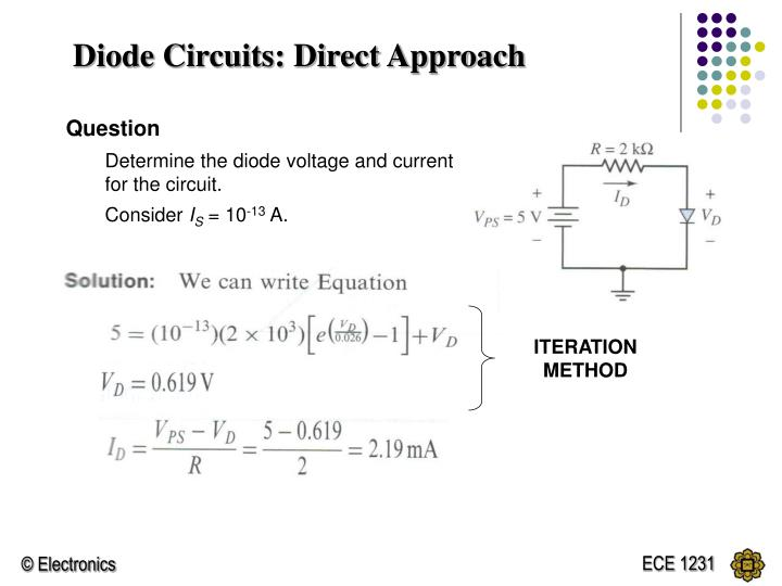 Diode Circuits: Direct Approach