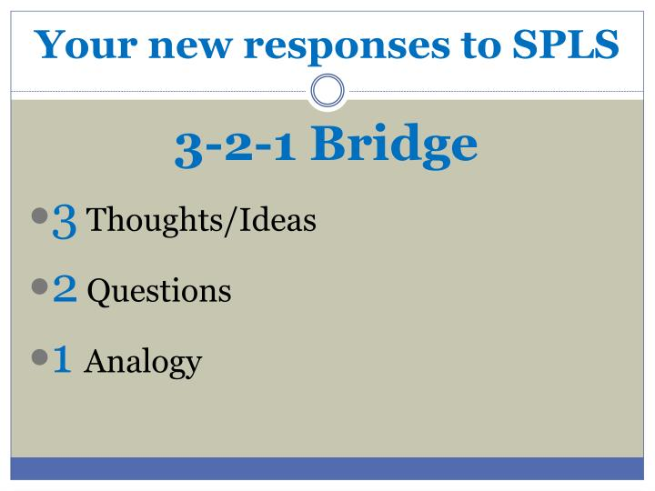 Your new responses to SPLS