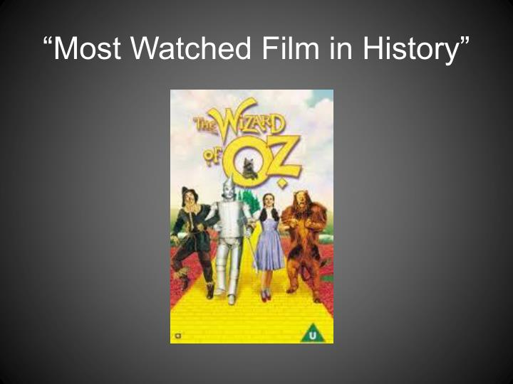 """Most Watched Film in History"""