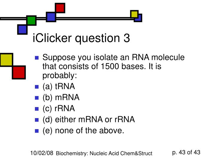iClicker question 3