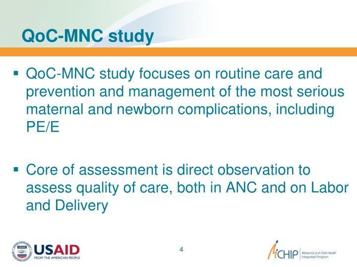 QoC-MNC study