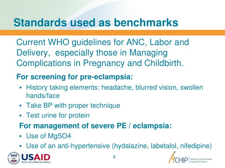 Standards used as benchmarks