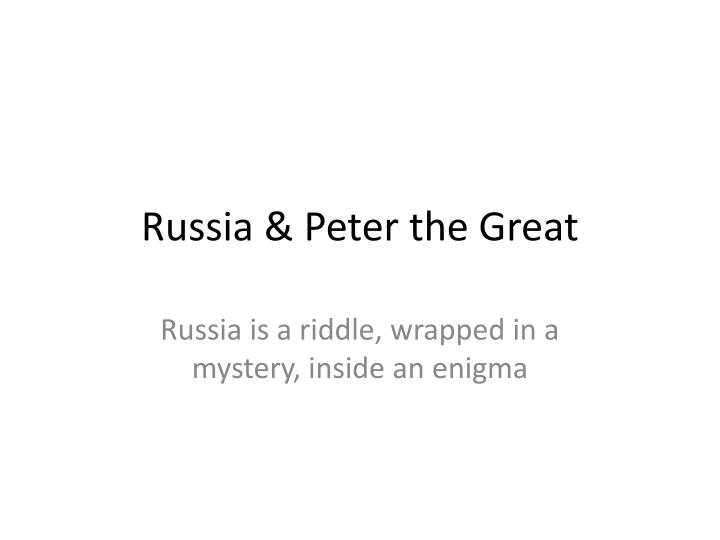 russia peter the great